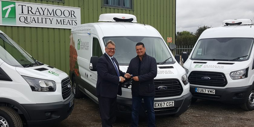New vans being received at Traymoor's premises