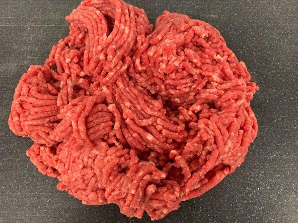 Quantity of minced beef steak