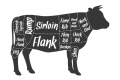 Diagram of cuts of beef