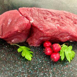 uncooked venison steak