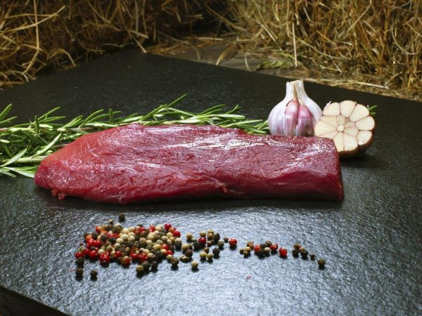 whole uncooked venison fillet